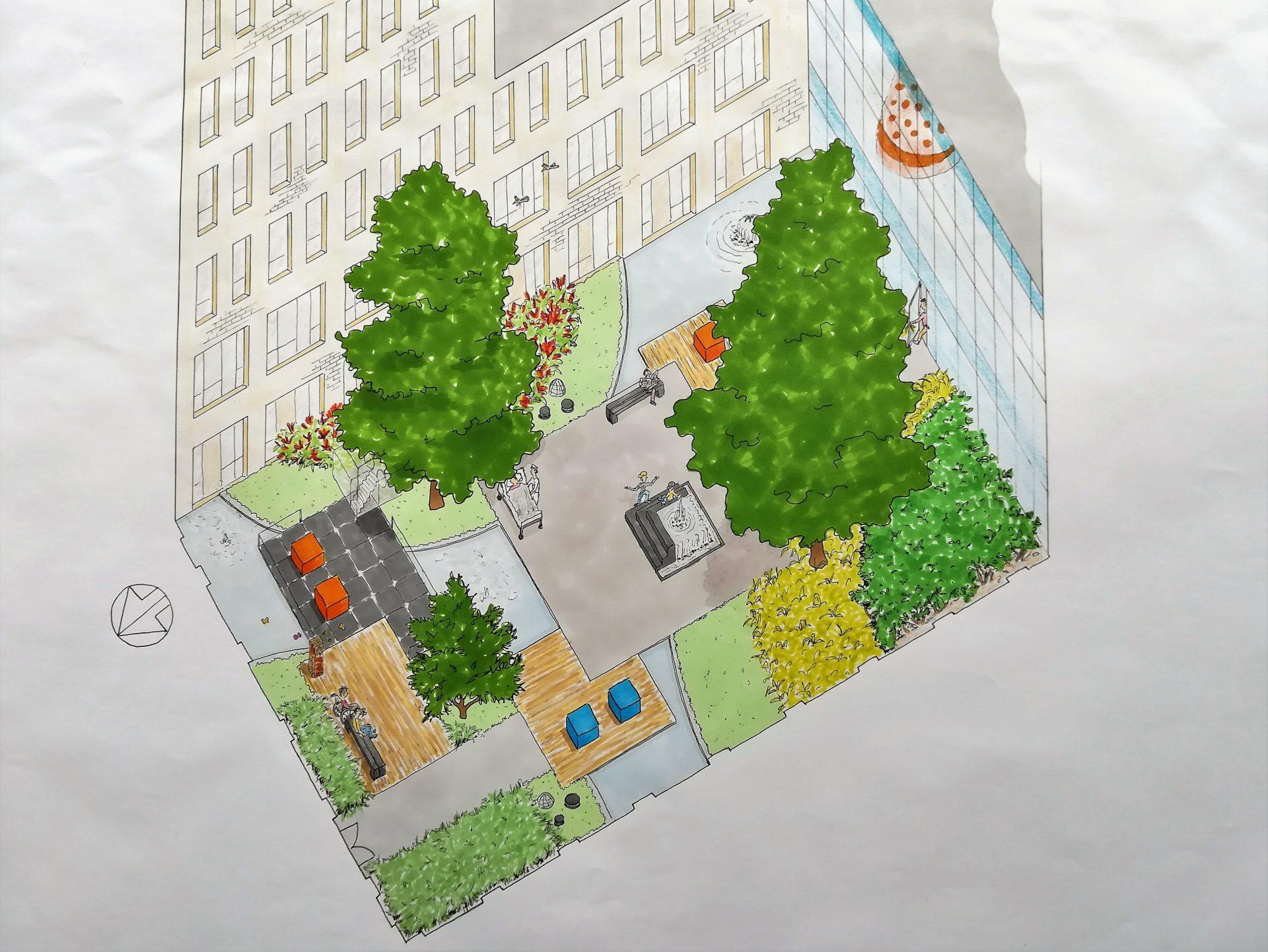 3D ontwerp openbare ruimte