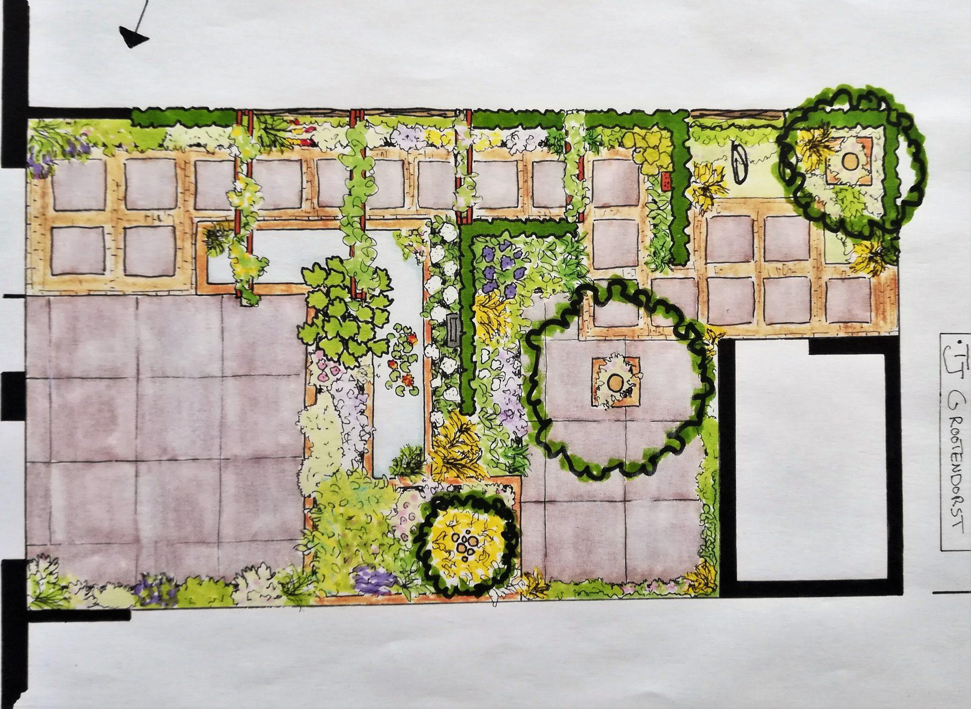 tuinontwerp tuin met vijver